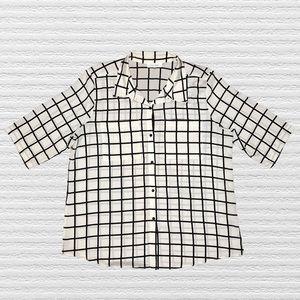 Calvin Klein Grid Window Pane Sheer Shirt